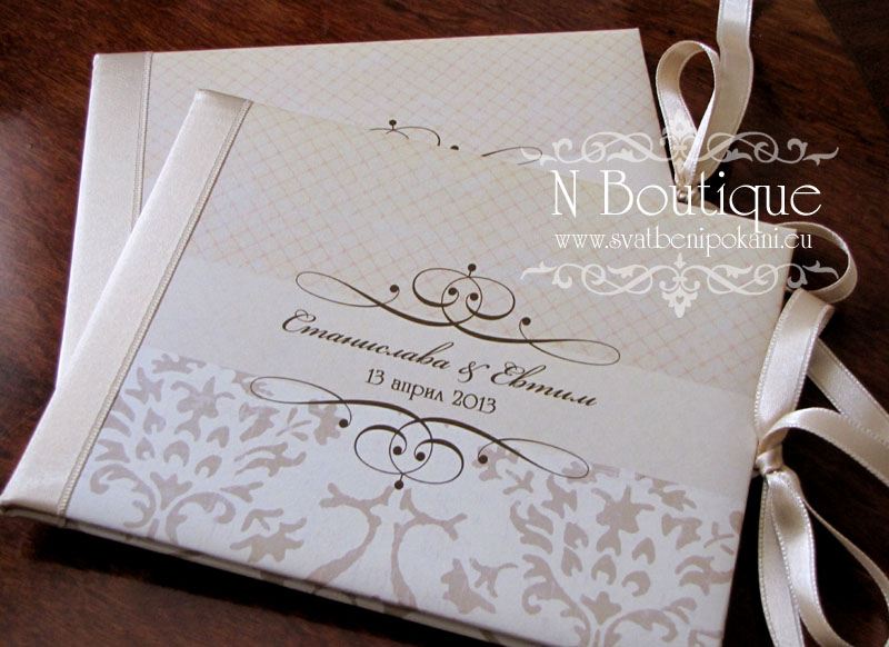 Hand-made wedding invitations